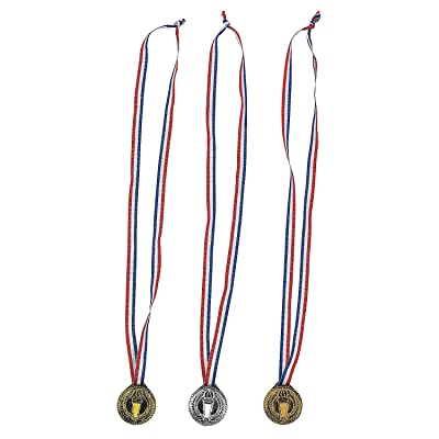 Fun Express - Torch Award Medals - 12 Pieces: Home & Kitchen