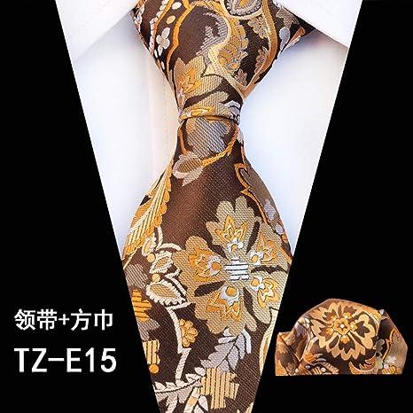 CDBGPZLD Pañuelo de Corbata de Seda de 20 Colores para Hombre ...