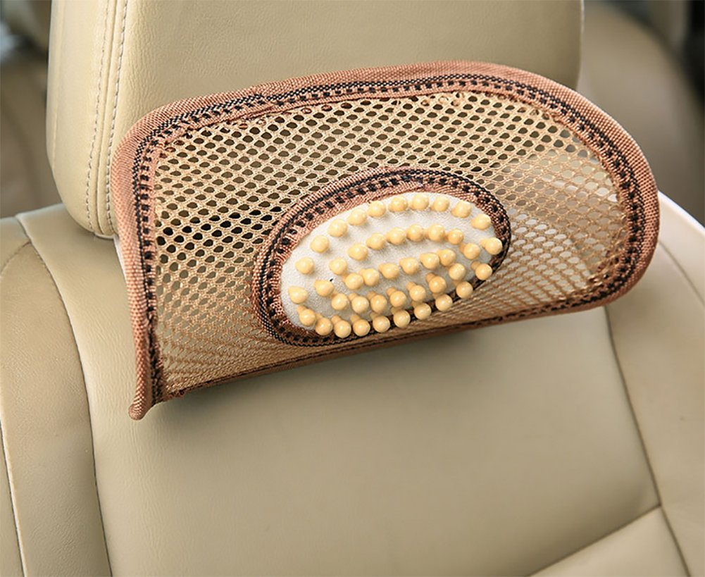 BMDHA Car Seat Headrest Breathable Comfortable Sweatproof Of Massage Headrest, Black
