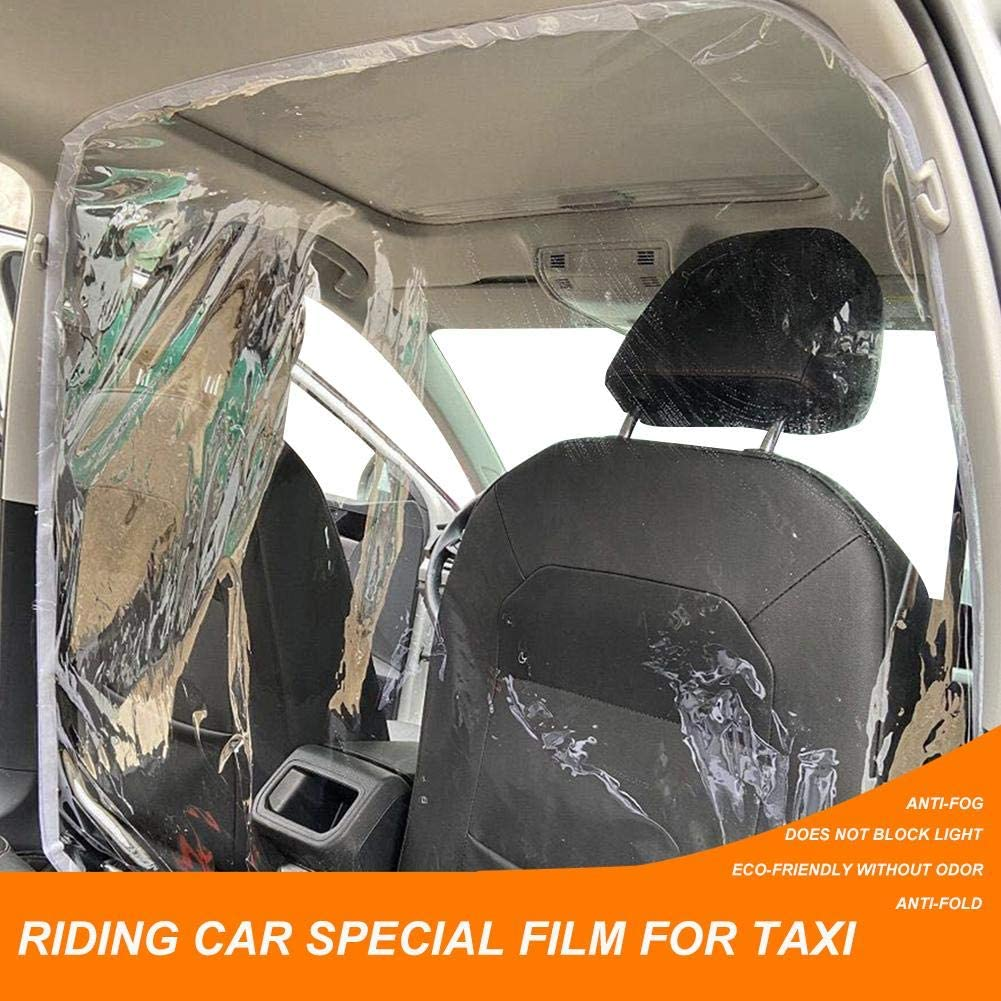 Yunhigh Car Taxi Isolation Film Self-Adhesive SUV Protective Isolation Film,Anti-Fog Protective Cover Partition Curtain,Completely Wrap Transparent Insulation Film