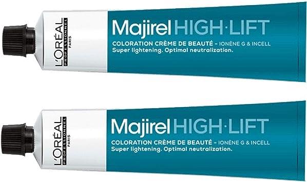 Loreal Majirel High Lift HL Ash+ - Tinte para el cabello (2 x 50 ml)