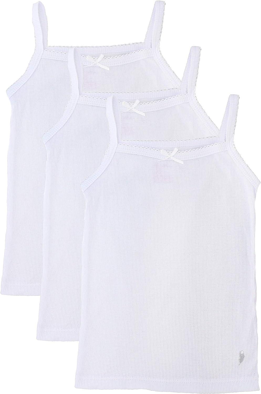 Rene Rofe Girls Solid White Tagless Cami Super Soft Undershirts 3//Pack