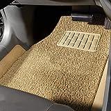 Autofurnish Anti Skid Curly Car Foot Mats (Beige) Universal