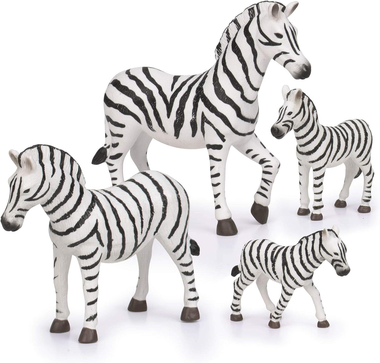 Terra by Battat – Zebra Family – Miniature Zebra Animal Toys for Kids 3-Years-Old & Up (4 Pc)