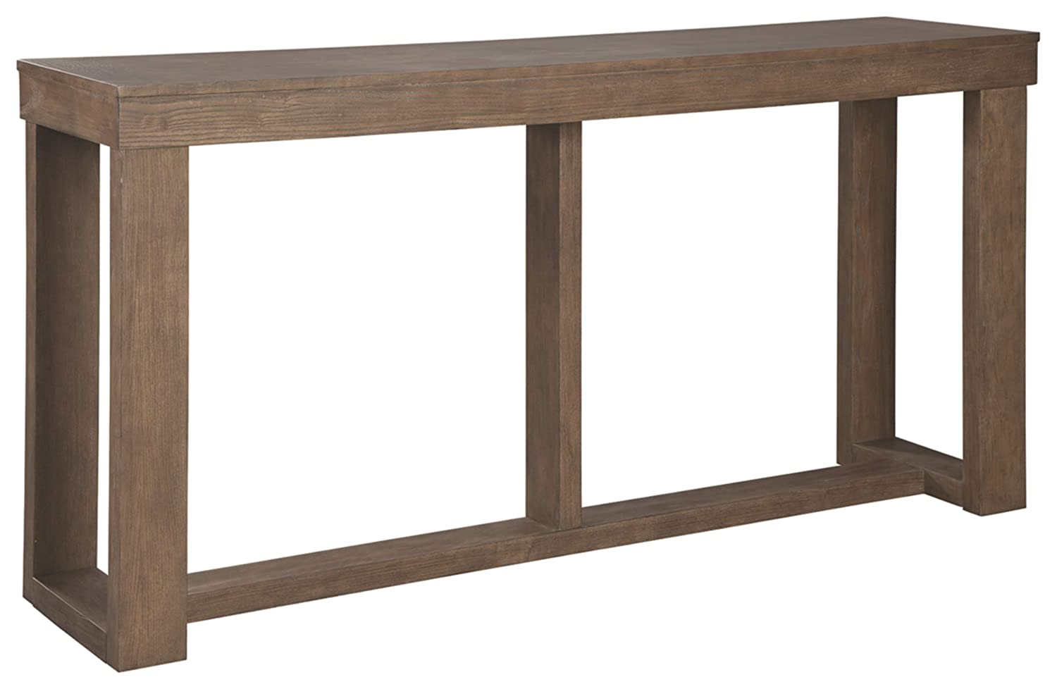 Signature Design by Ashley – Cariton Sofa Table, Grayish Brown Wood