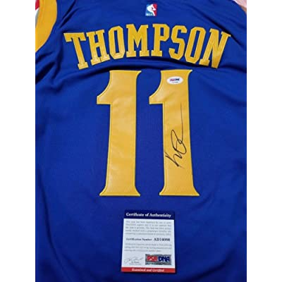 cheaper 411b7 8c916 Klay Thompson Autographed Jersey PSA/DNA Golden State ...