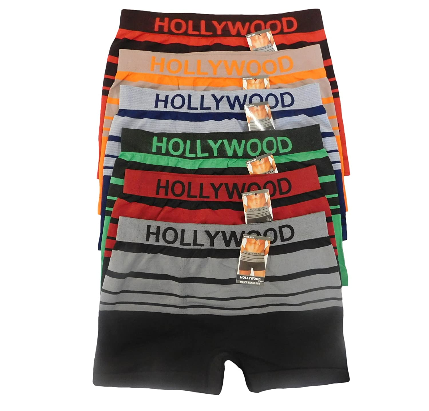 Hollywood Pro Boxer Briefs Seamless Mens (Free Size Boxers) 1028ba27780b