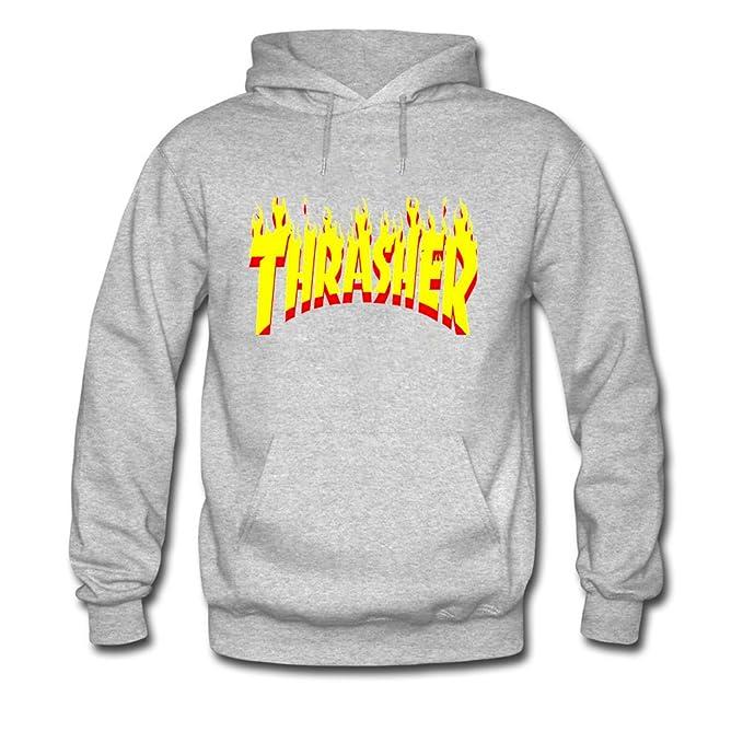 Thrasher Hoodies - Sudadera con capucha - para hombre gris gris Medium: Amazon.es: Ropa y accesorios