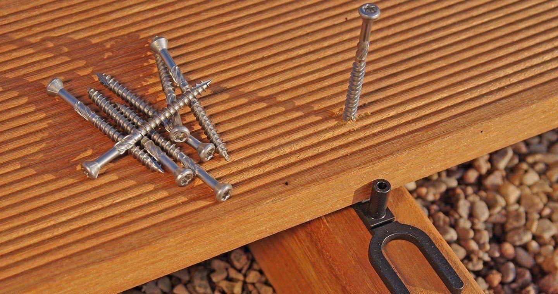 Profi Terrassenschrauben inkl C1 Edelstahl f/ür Holzdielen 200 St Bit 5x50 mm