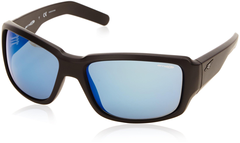 ARNETTE Men's An4201 Racketeer Rectangular Sunglasses