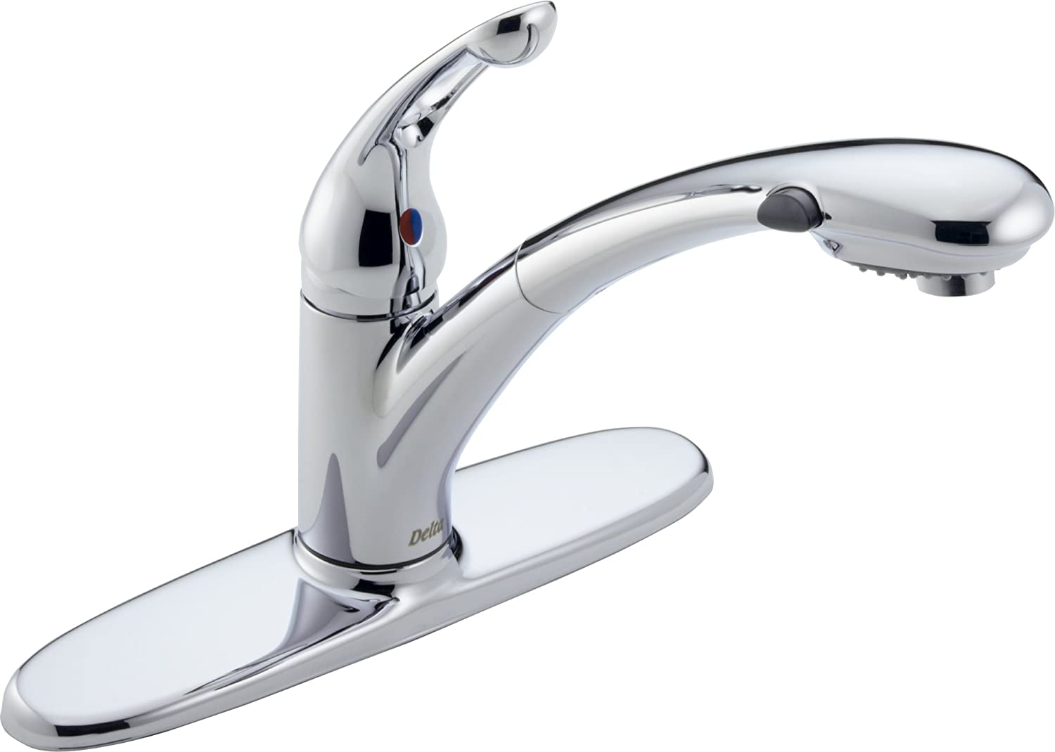 Delta 472 DST Signature Single Handle Pull Out Kitchen Faucet, Chrome    Touch On Kitchen Sink Faucets   Amazon.com