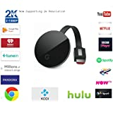 Wireless HDMI screen mirroring dongle – GcastUltra second generation media wifi streaming receiver casting full HD 1080p-2k display picture to your tv, watch all you favorite movies/tv shows comfortably with this easy sharing TV stick for Android / Windows / iOS / Mac Devices to HDTV via Miracast Airplay DNLA