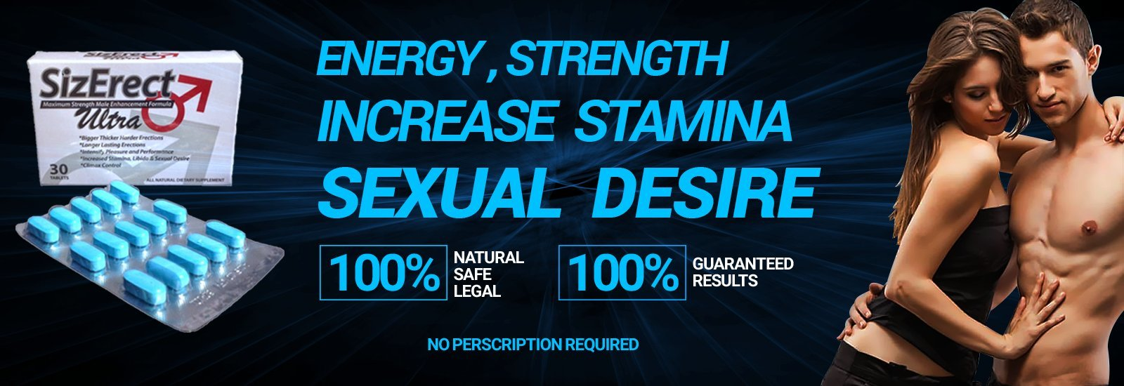 SizErect Ultra Advanced - #1 Male Sexual Enhancement Formula - Boost Male Performance and Libdo - Long Lasting Effect | Limited Supply (2)