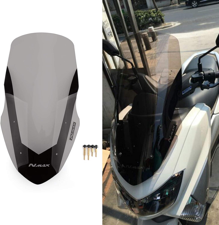 Senmubery Moto Pare-Brise et Le Pare-Brise Le D/éFlecteur pour NMAX155 N-Max 125 NMAX 155 2016-2018