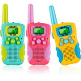 Obuby Kids Walkie Talkies 3 KMs Long Range 2 Way Radio 22 Channels for Kid Toys Gifts with Backlit LCD Flashlight Best Gift f