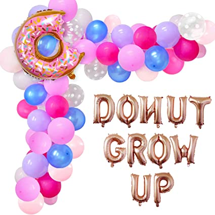 Donut Grow Up Donut Decor Donut Party Balloon Donut Balloon Birthday Balloon
