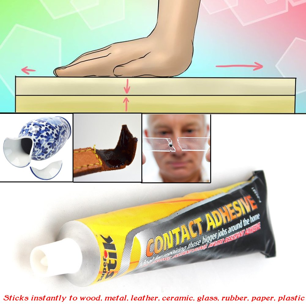 Heavy Duty Super Strong Water Resistant All Purpose Instant Contact Adhesive Stick - Instantly to Bond wood, metal, leather, ceramic, glass, rubber, paper and plastic. BSD BRANDS (UK)