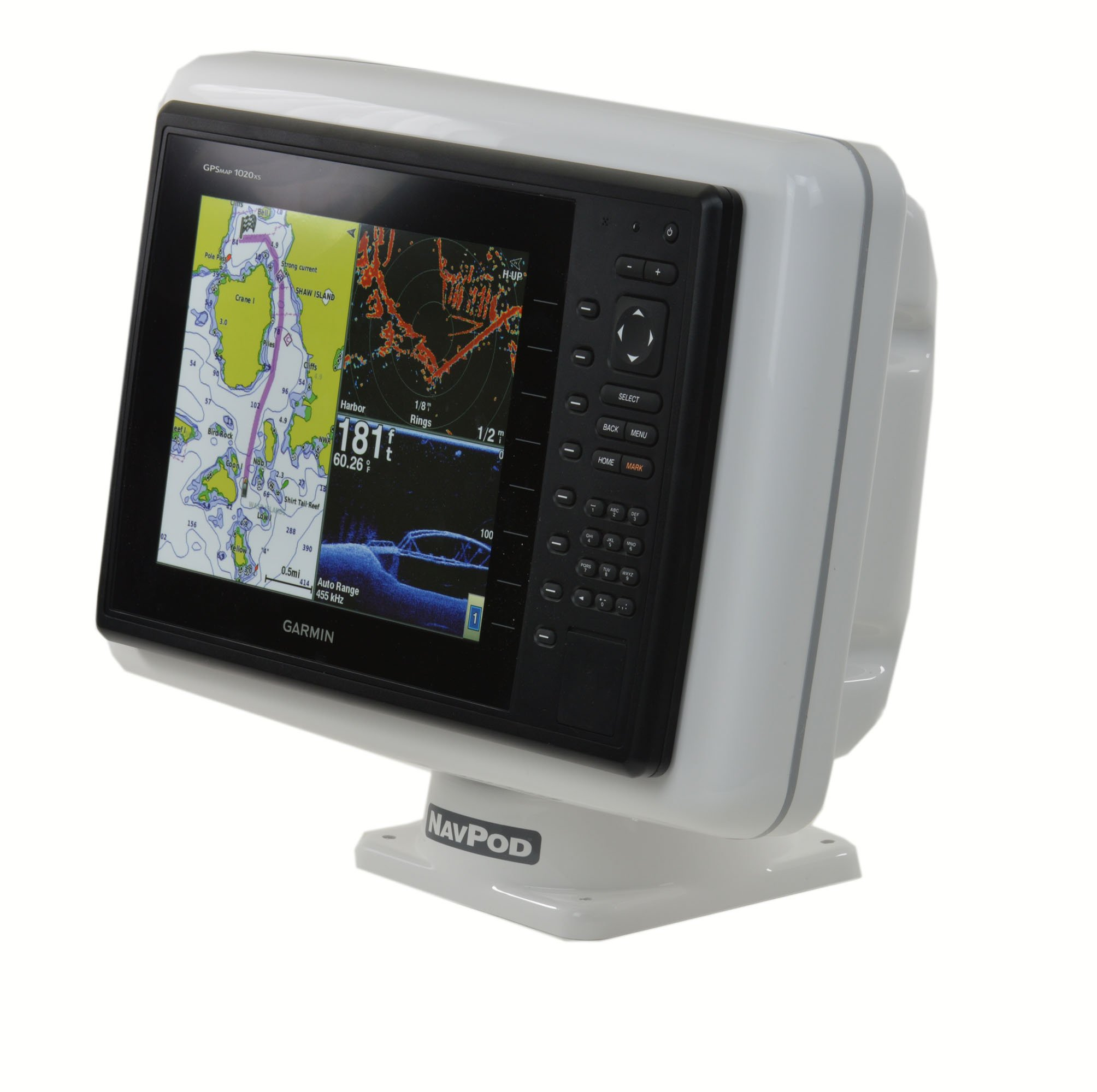 NavPod PP5201 PowerPod Pre-Cut for Garmin 1020/1020xs/1040xs by NavPod