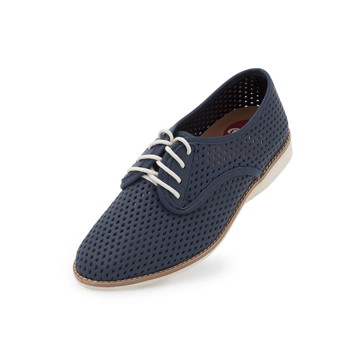 Rollie Women's Lightweight Derby Punch Perforated Lace-up Flat Shoe B07FKQG1MM 41 M EU|Dark Navy