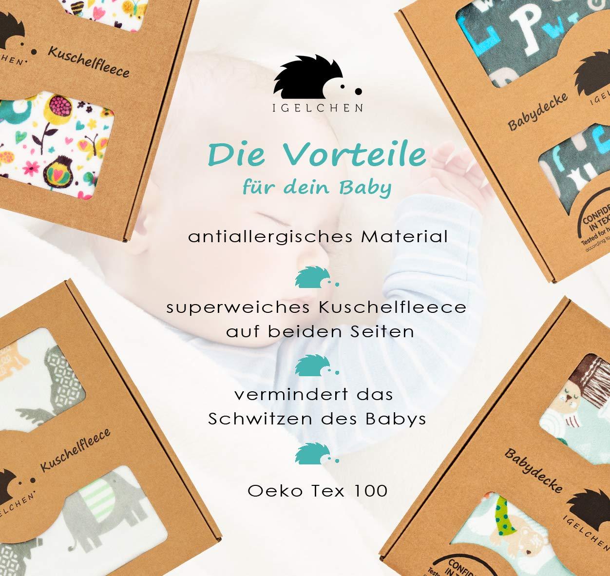 Baby Kuscheldecke extra weich 70x100-3 Farben zur Wahl