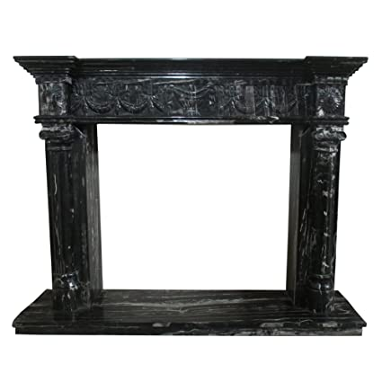 Cool Amazon Com Black And White Polished Marble Fireplace Download Free Architecture Designs Boapuretrmadebymaigaardcom