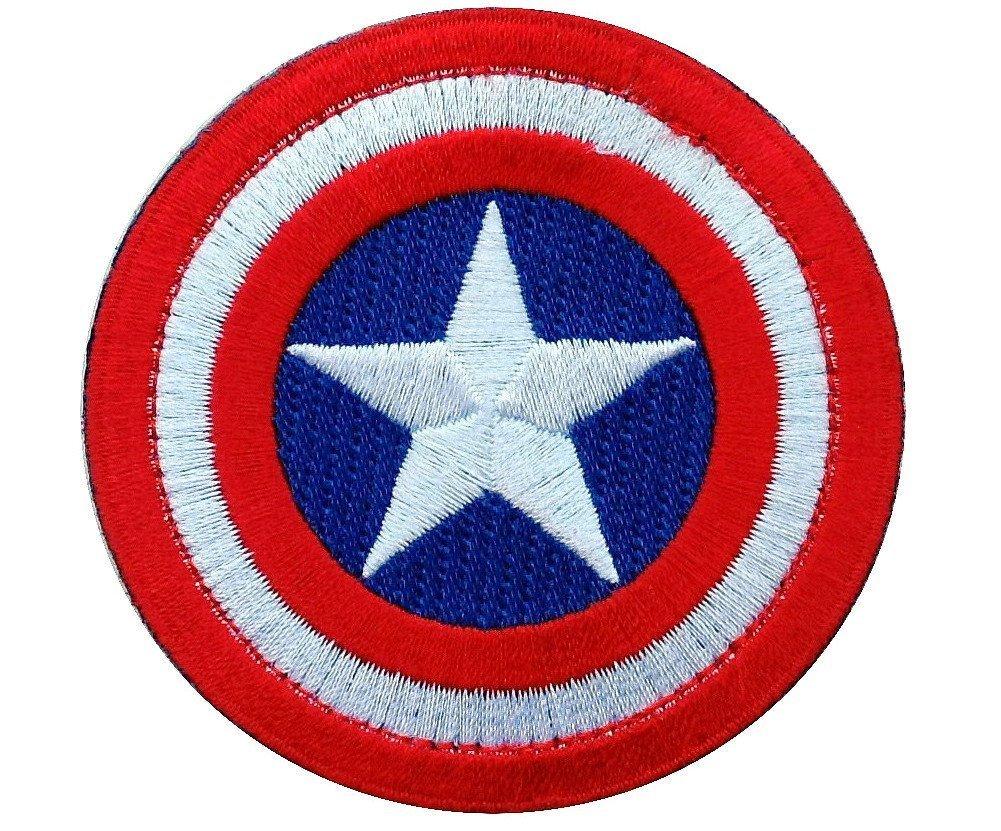 Titan One Europe Tactical Captain America Original Colors Mini Shield Morale Patch Taktisch Klettband Aufn/äher