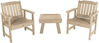 product image for highwood AD-KITCHGL2-TAU Lehigh 2 Garden Chairs with 1 Square Side Table, 3-Piece Set, Tuscan Taupe