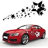 **Sternenschweif** 2er XXL SET Retro Auto Aufkleber Sterne Car Tuning Sticker Motiv Star   KB147