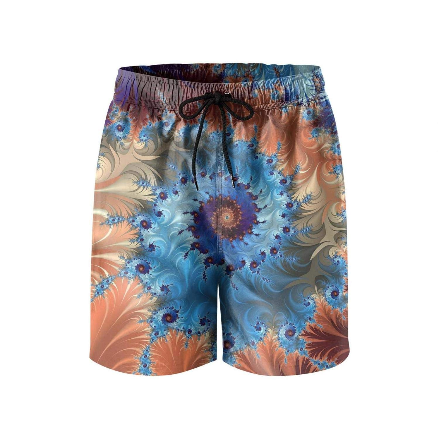 IOY//halol The Universe Trippy Mens Swimming Trunks Beach Board Shorts Fully Lined Waterproof Graphic Short Pants Beachwear