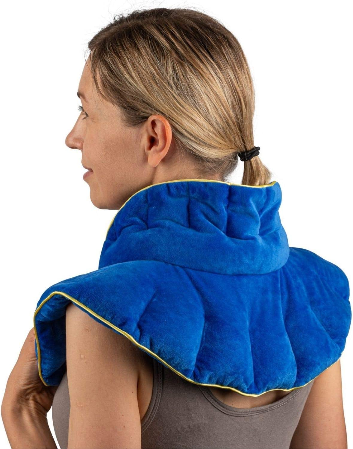 Heated Microwaveable Neck and Shoulder Wrap Hot//Cold Deep Penetrating Weighted