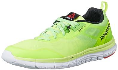 Reebok ZQuick Soul Sneaker Homme Chaussures de Sport Fitness Vert / Jaune OlHvfEPH