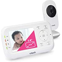 """VTech VM3252 Video Baby Monitor with 1000ft Long Range, Auto Night Vision, 2.8"""" Screen, 2-Way Audio Talk, Temperature…"""