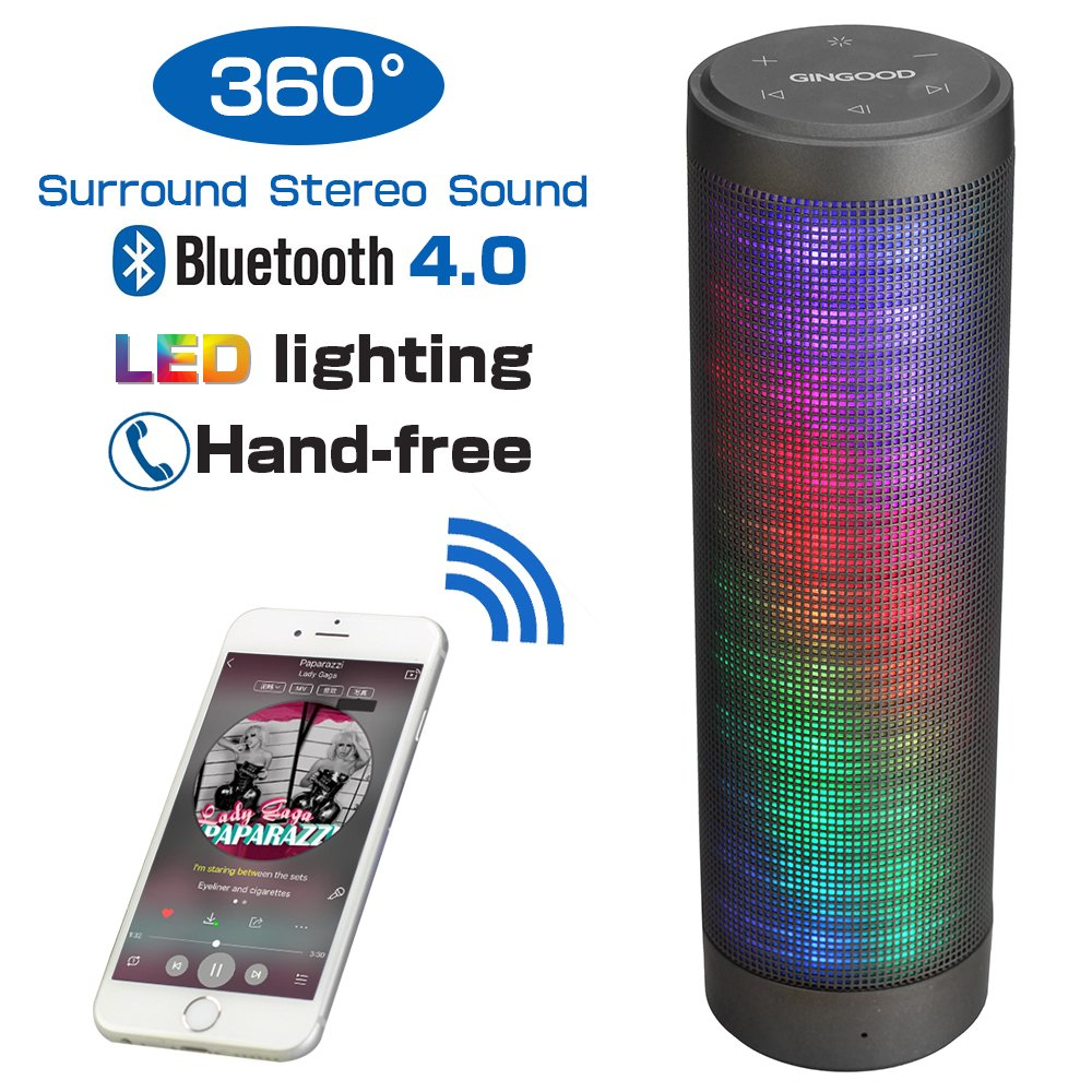 Portable Bluetooth Speaker with Loud Stereo Sound Wireless..