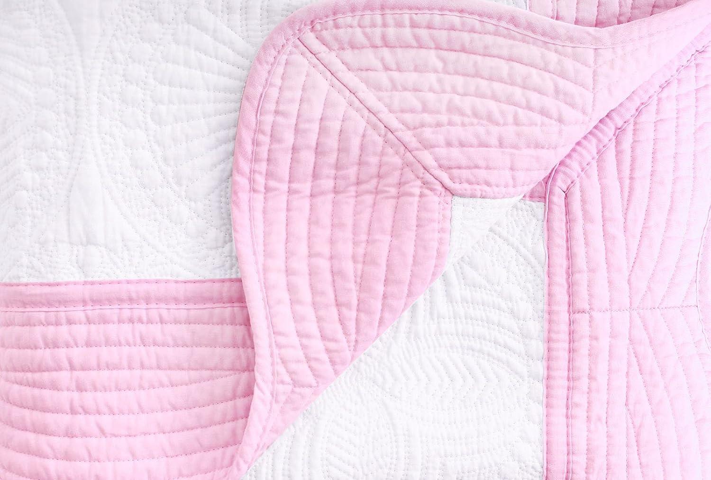 Cream EPGM Baby Blanket Newborn Cotton Lightweight Quilt with Embossed Detail