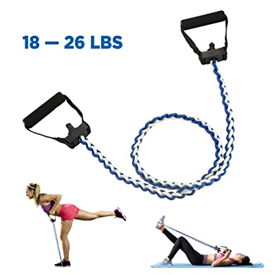 Bandes de résistance d'exercice réglables-corde élastique de traction de CMXING parfaite pour la résistance entraînant le levage Yoga Pilates ABS exercice Stretch fitness gym avec poign&eacut