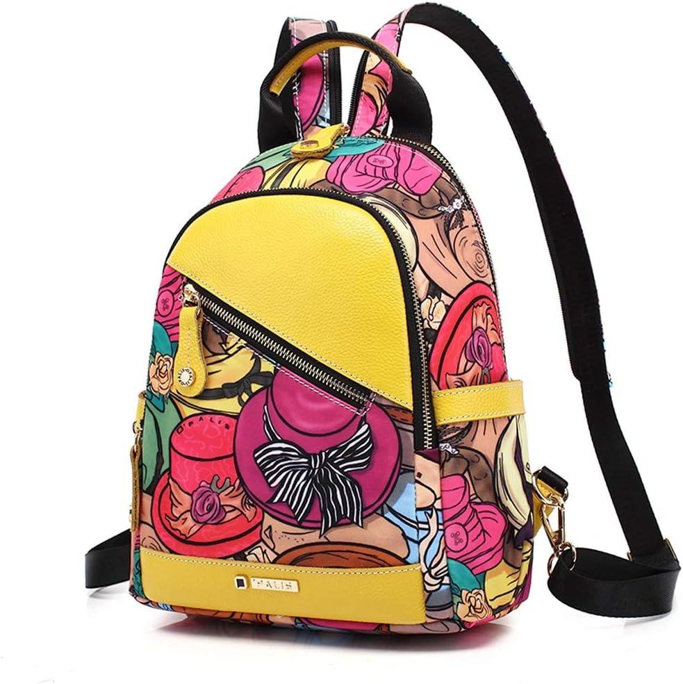 C /& S Multifunctional Backpack Women Fashion Outdoor Dual-Purpose Handbill Shoulder Mini Backpack Waterproof Nylon Material Portable Large Capacity