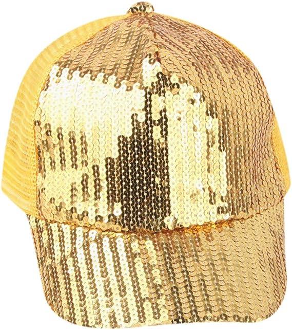 Fatchot Gorra de béisbol con lentejuelas para niños y niñas ...