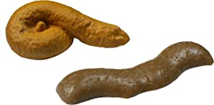2 Pack of Novelty Fake Poop Toys, Floats on Water, Perfect Gag Gift, Prank Gift, Two Realistic Poop Designs, Fake turd for Real Laughs