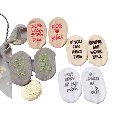 Amazon.com: Calcetines de bebé únicos para regalo, regalo ...