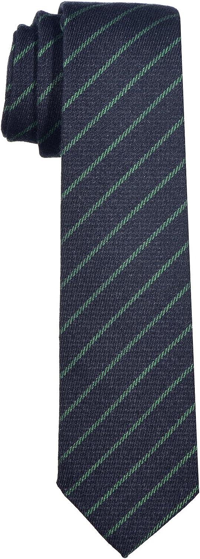 DonDon Corbata de rayas de algodón para hombres de 6 cm - azul ...
