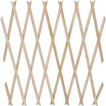 Jago Celosía extensible de madera como soporte para enredaderas ...