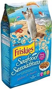 Friskies Purina Seafood Sensations Cat Food Bag, 16 lb