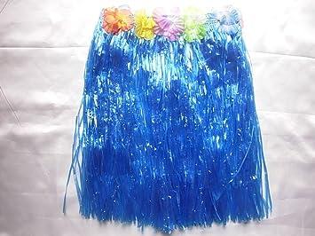 Blue grass jupe pour hawaii beach party enterrement 40 cm: amazon.fr