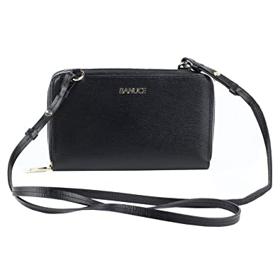 8520a8cb4 Image Unavailable. Image not available for. Color: Banuce Small Shoulder  Clutch Crossbody Purse Organizer Genuine Leather ...