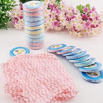 hunpta 10pcs magia comprimido Bath Cara Toallas de viaje reutilizable de toallitas desechables: Amazon.es: Hogar