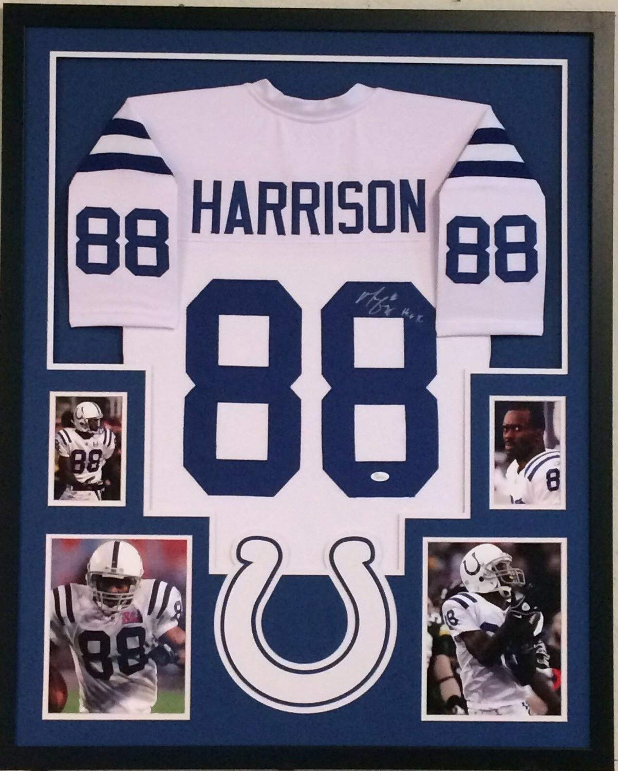free shipping 691bc 4de94 Marvin Harrison Autographed Signed Custom Framed ...
