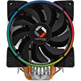 CHIPTRONEX Diffuser X500 RGB CPU Cooler with 5 Copper Heat Pipes(Black)