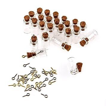 50 Stuck 0 5ml Mini Flaschchen Mit Korken Klein Glasflaschen Mit
