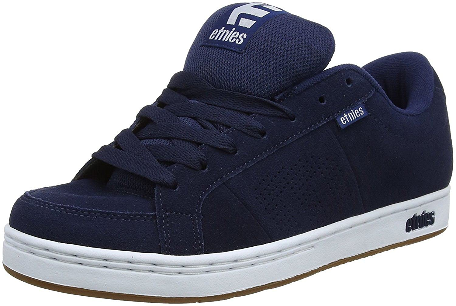 #etnies Kingpin Navy Gum White Mens Suede Trainers Shoes