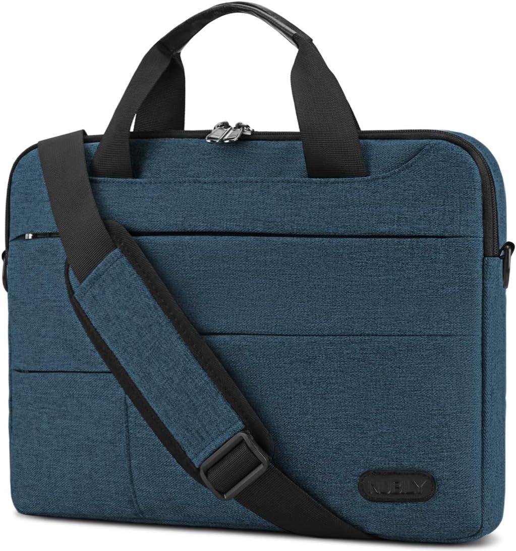 Laptop Bag for Men 13.3/14 inch Computer Sleeve Carrying Surface Laptop Case Water Repellent Briefcase Work Business Messenger Shoulder Bag Tablet Handle Case, Notebook Navy